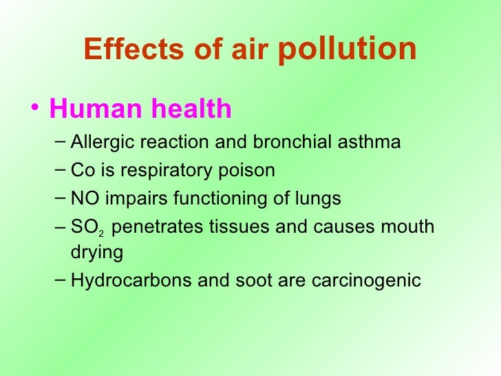 effects of air pollution on human Effects of air pollution: know what are air pollution effects on human brain, children and on health also know global impact of air pollution.