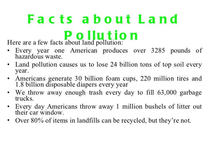 Pollution 1 for All about soil facts