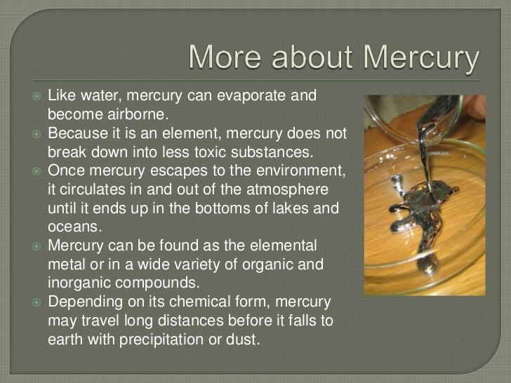Can Mercury Evaporate At Room Temperature