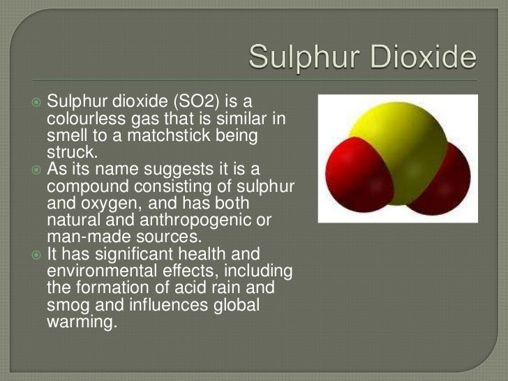 Is Global Warming Man Made >> Air Pollution and Sulphur Dioxide