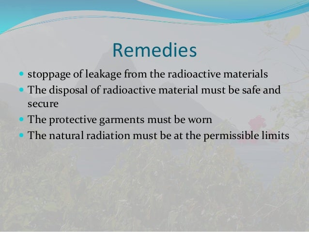 Essay about radioactive pollution