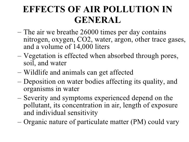 common air pollutants essay Free college essay air pollution the most common air pollutants found indoors are similar to the pollutants that can be found out doors.