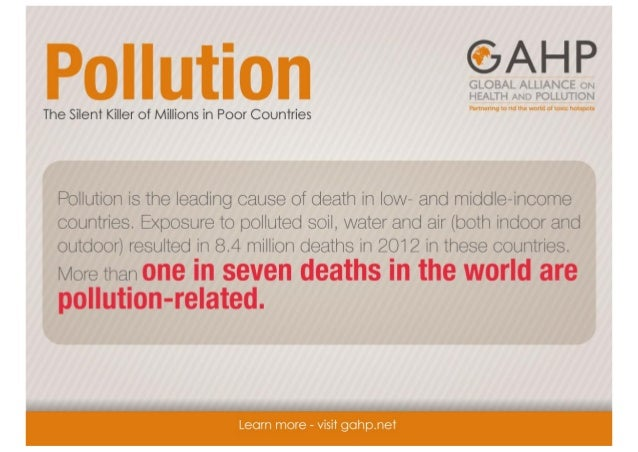 """P ' @AHP HEALTH AND POLLUTION  The Silent Killer of Millions in Poor Countries P""""""""""""'""""""""°'°""""°'""""'""""°""""""""°""""°""""""""°""""""""°""""  Pollution is..."""