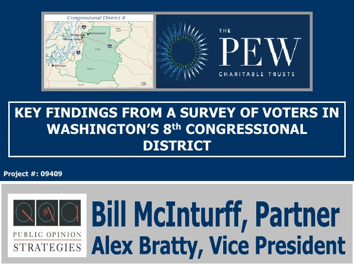 KEY FINDINGS FROM A SURVEY OF VOTERS IN       WASHINGTON'S 8th CONGRESSIONAL                  DISTRICT Project #: 09409   ...