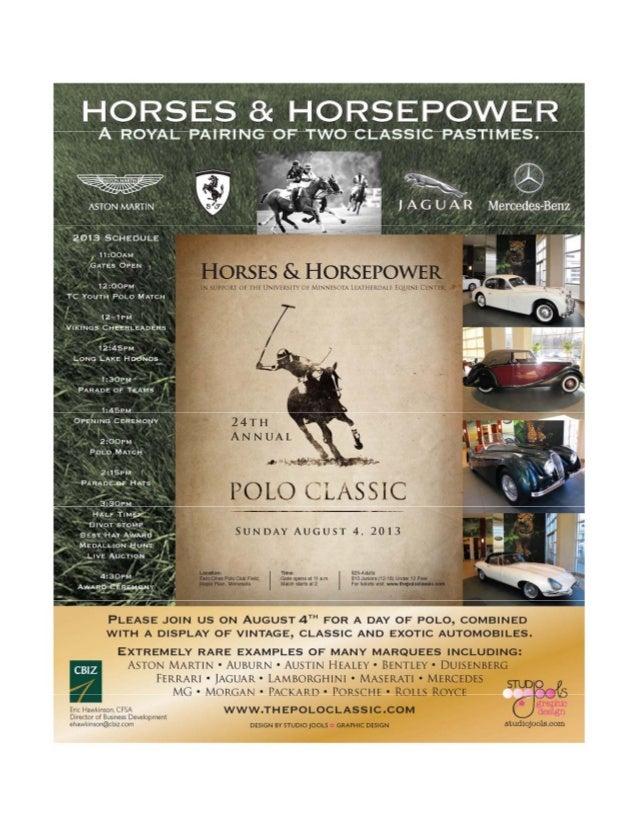 Horses & Horsepower Polo Classic - August 4, 2013 – Minnesota