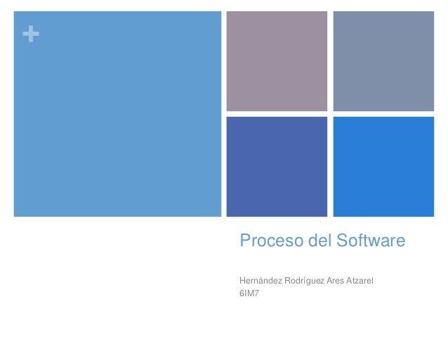 + Proceso del Software Hernández Rodríguez Ares Atzarel 6IM7