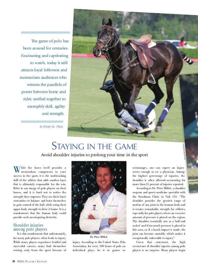 While the horse itself provides a tremendous component to your success in the sport, it is the multi-tasking skill of the ...
