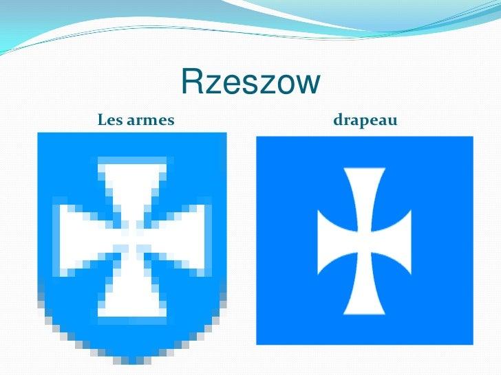 RzeszowLes armes             drapeau