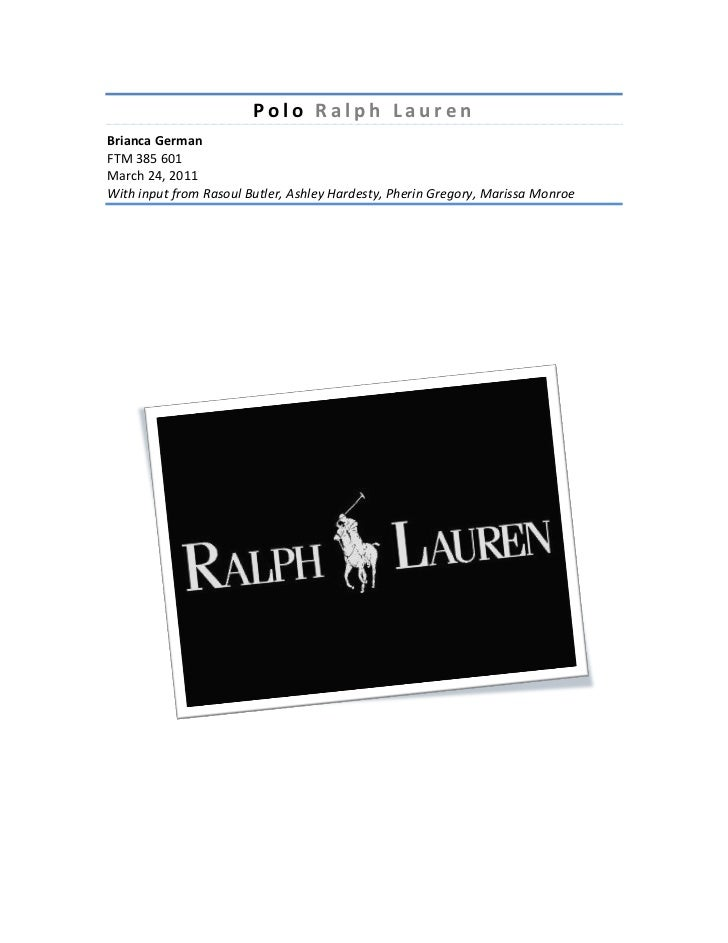 Polo ralph lauren overview and analysis