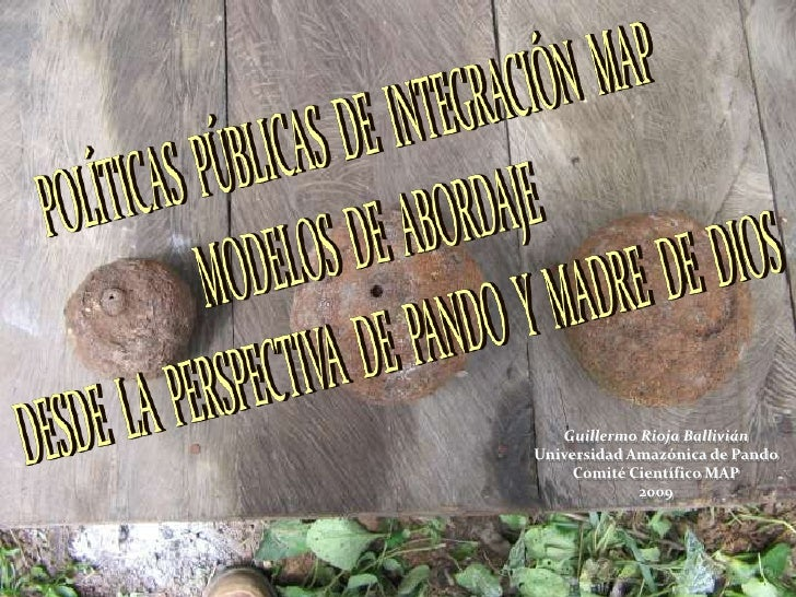 Guillermo Rioja BalliviánUniversidad Amazónica de Pando     Comité Científico MAP             2009