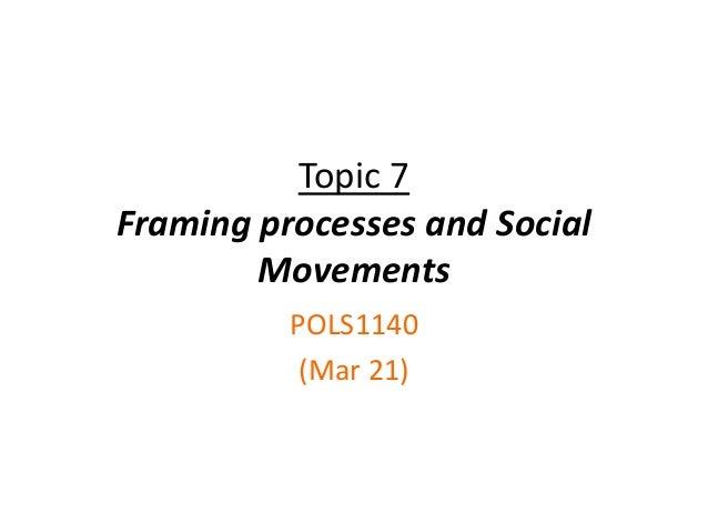 Topic 7Framing processes and SocialMovementsPOLS1140(Mar 21)