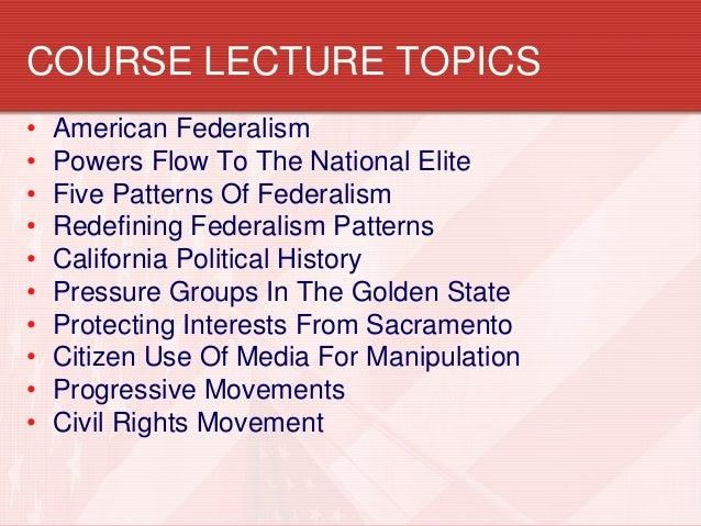 interesting political science topics