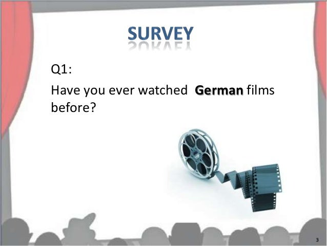 Q1:Have you ever watched German filmsbefore?