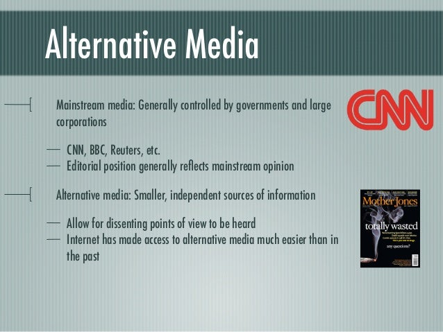 alternative media as an alternative to The production of alternative media in mainland china: a case study of the  journal friend exchange jin cao  abstract: through an ethnographic study of .