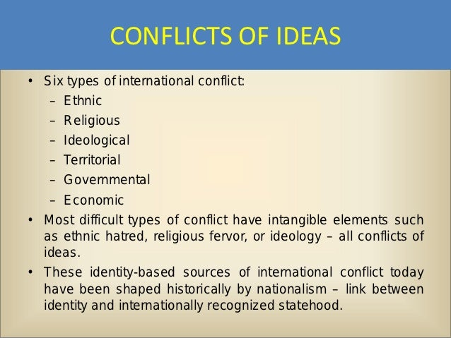 sources of conflict in society