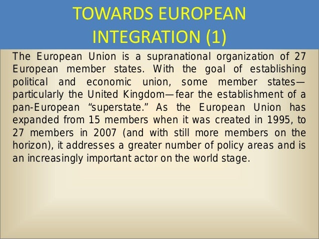 the significance of the united states policy and aid to the european integration The us government created the united states agency for international development the importance of the united states development assistance policy.