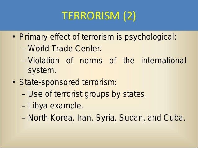 Political Science 7 – International Relations - Power Point #11