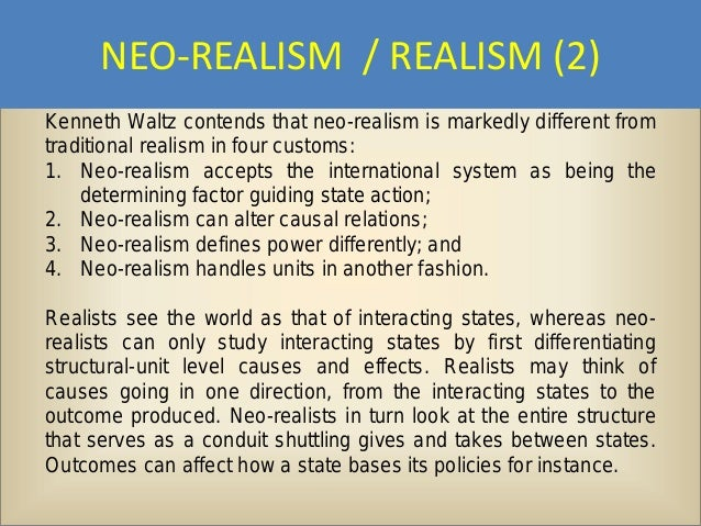 realism and neorealism in international relations pdf