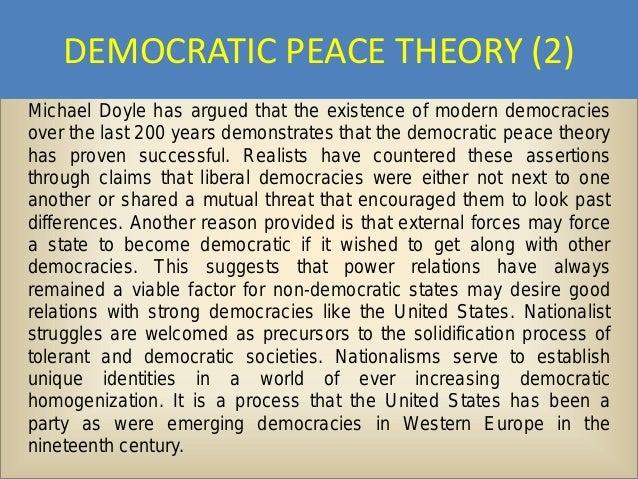 Democratic peace essays