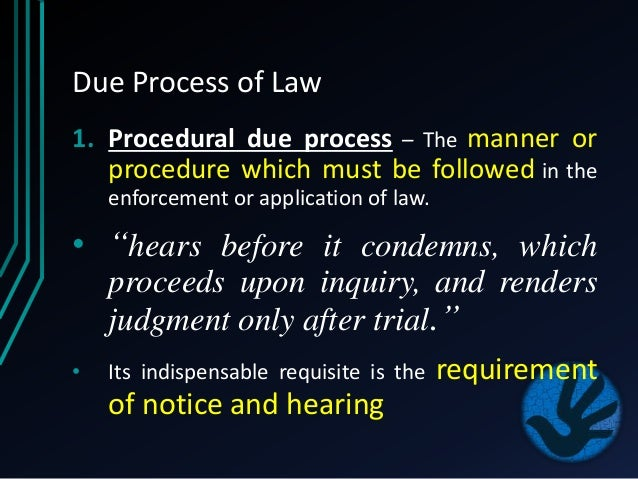 due process of law within the Due process complaints must be filed within two years of the violation of the special education law how to initiate a state complaint most state educational agencies (sea) have a form that can be filled out to initiate the complaint.