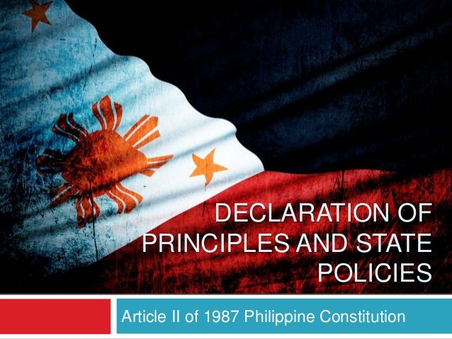 article 2 declaration of principles and state policies section 26 Learn the 1987 philippine constitution using this presentation  article ii declaration of principles and state policies learning resources  26 project jurisprudence 2 5,373 views.