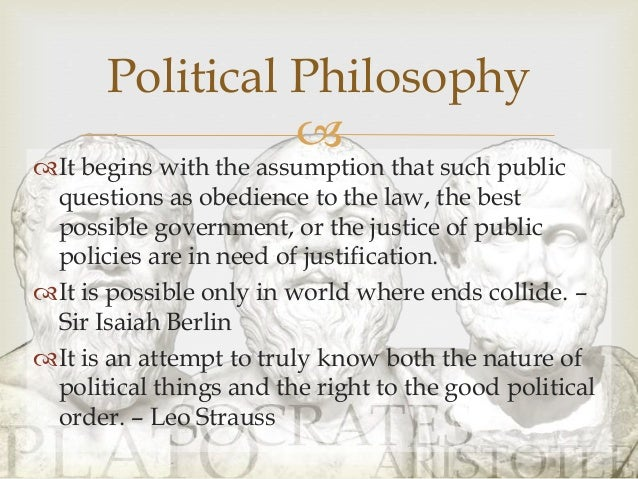 The definition of political philosophy