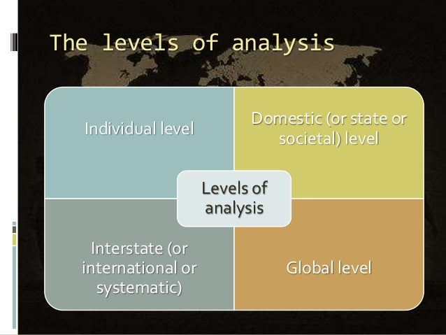 the level of analysis problem in international relations pdf
