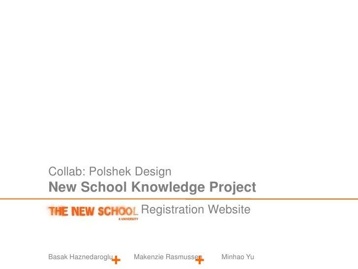 Collab: Polshek Design<br />New School Knowledge Project<br />Registration Website<br />+<br />+<br />Basak Haznedaroglu  ...