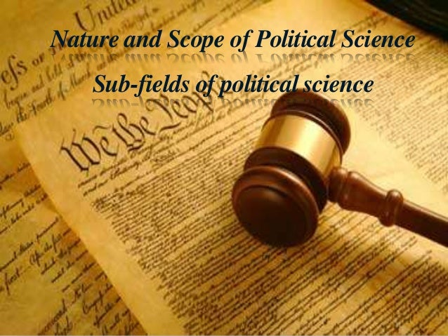 an introduction to the field of political science Pol 201: introduction to american politics  pol 271: introduction to  comparative politics  pol 300r: introduction to research in political science.