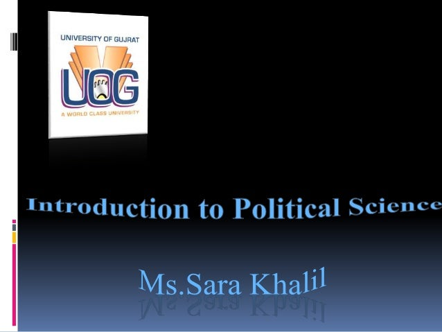 nature and scope of political science summary