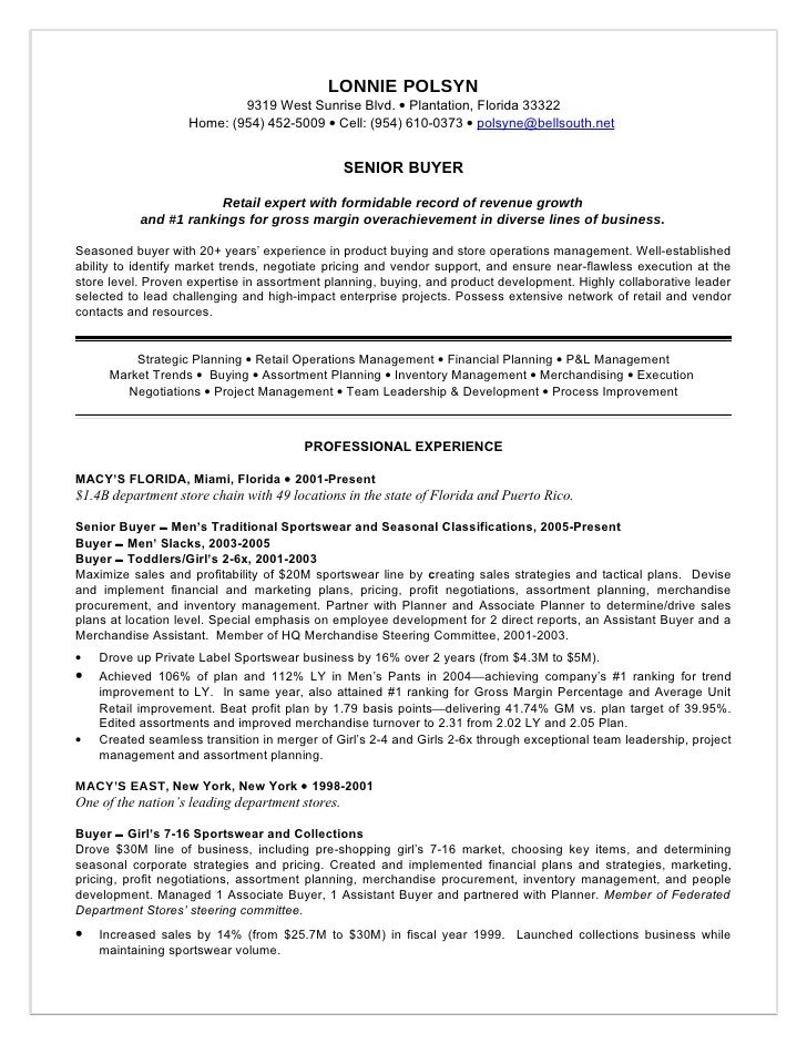 Retail buyer resume objective examples , Custom essays for