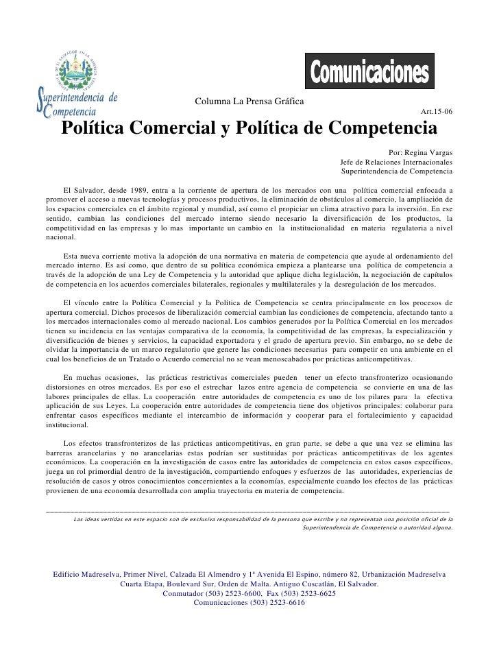 Columna La Prensa Gráfica                                                                                                 ...