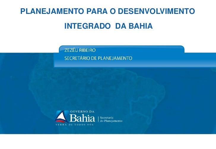 Política de desenvolvimento territorial   governo da bahia