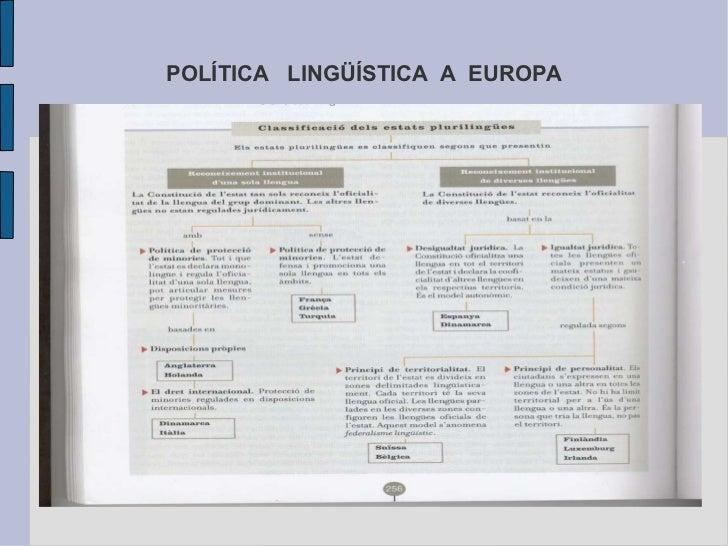 POLÍTICA  LINGÜÍSTICA  A  EUROPA