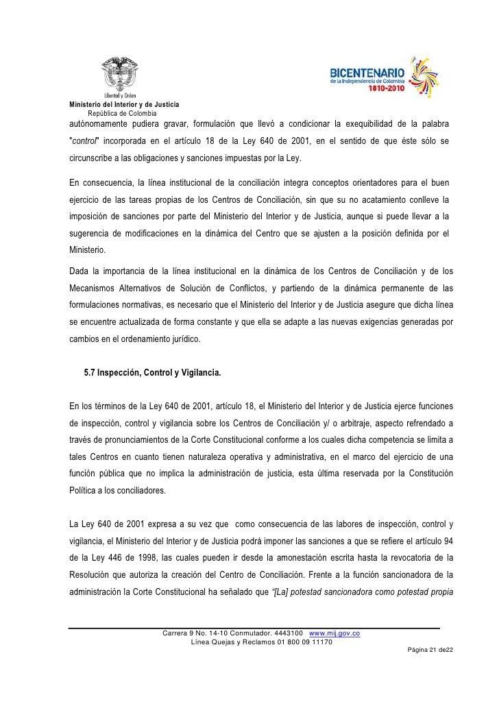 Pol tica p blica en materia de conciliaci n extrajudicial for Pagina del ministerio de interior y justicia