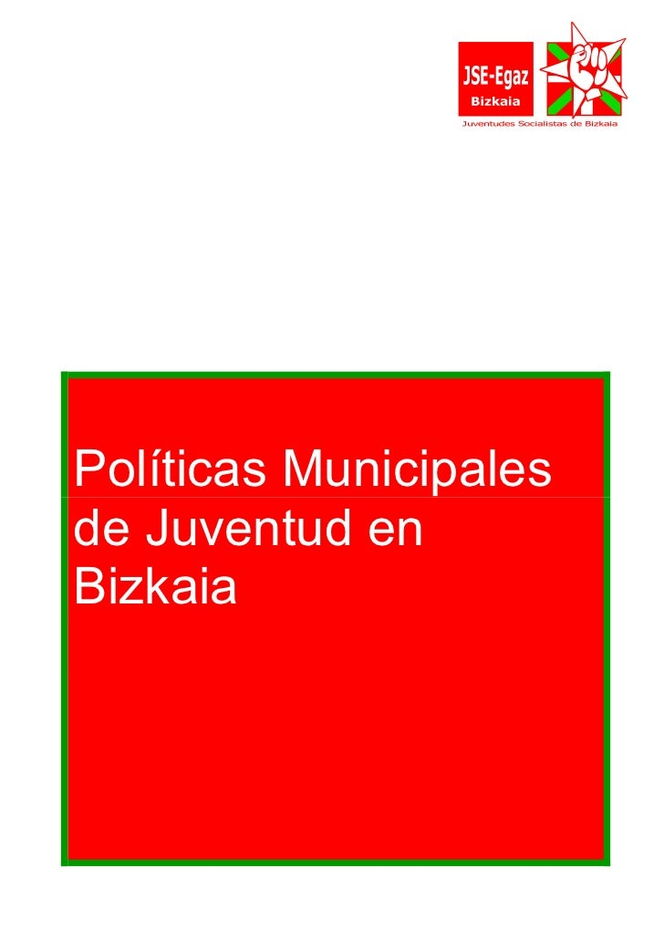 Políticas Municipales de Juventud en Bizkaia