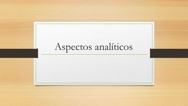 Aspectos analíticos