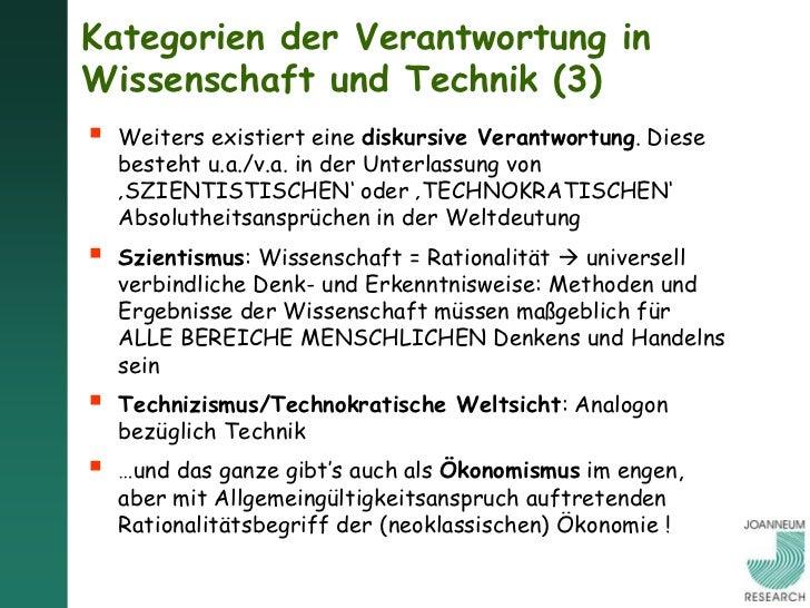 """Wissenschaft und Technik als Weltanschauungen:SZIENTISMUS UND TECHNIZISMUS (1) Wissenschaftliche Erkenntnis wird """"zum höc..."""