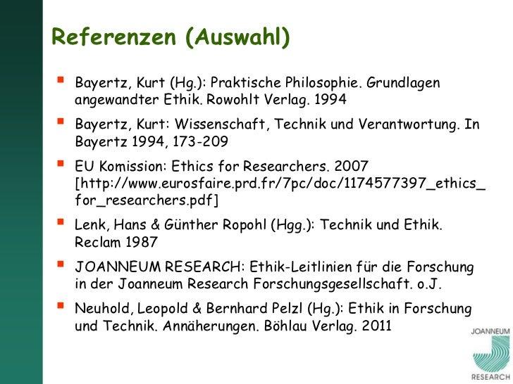 Wolfgang Polt Vorlesung Forschungs- und Technikethik 16 12 2011