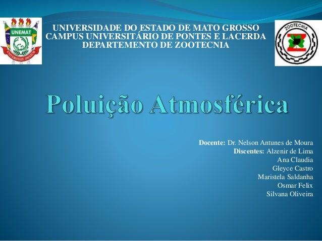 Docente: Dr. Nelson Antunes de Moura Discentes: Alzenir de Lima Ana Claudia Gleyce Castro Maristela Saldanha Osmar Felix S...