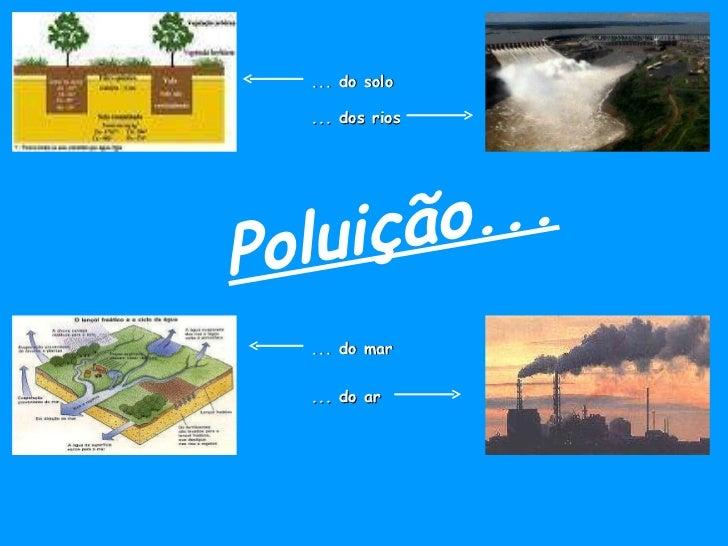 Poluição... ... do solo ... dos rios ... do ar ... do mar