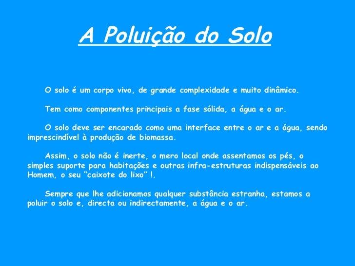 Poluição de... Slide 3