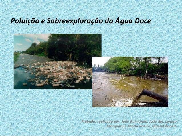 Poluição e Sobreexploração da Água Doce Trabalho realizado por: João Raimundo, João Rei, Lenora Marquesini, Marta Raeiro, ...