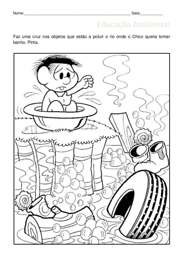 Well-known Educação Ambiental - Poluição rio UF51