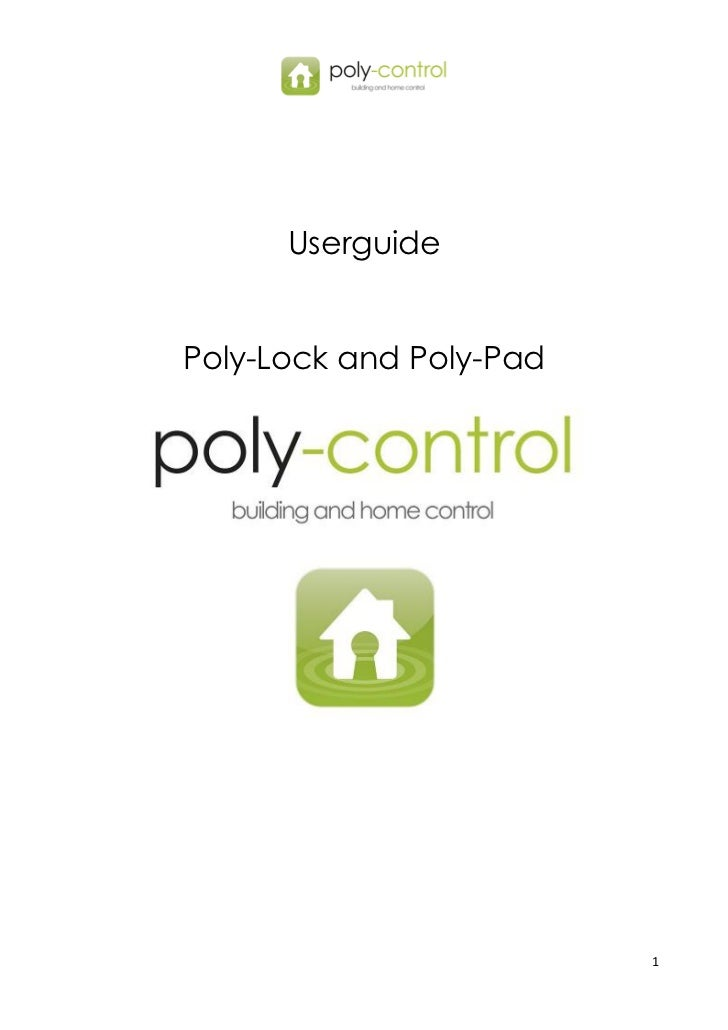 Poly Control Userguide Poly Lock And Poly Pad Us