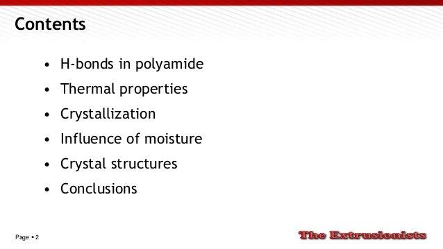 Polyamide crystallization structures Slide 2