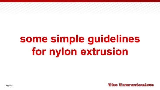 Polyamide extrusion Slide 2
