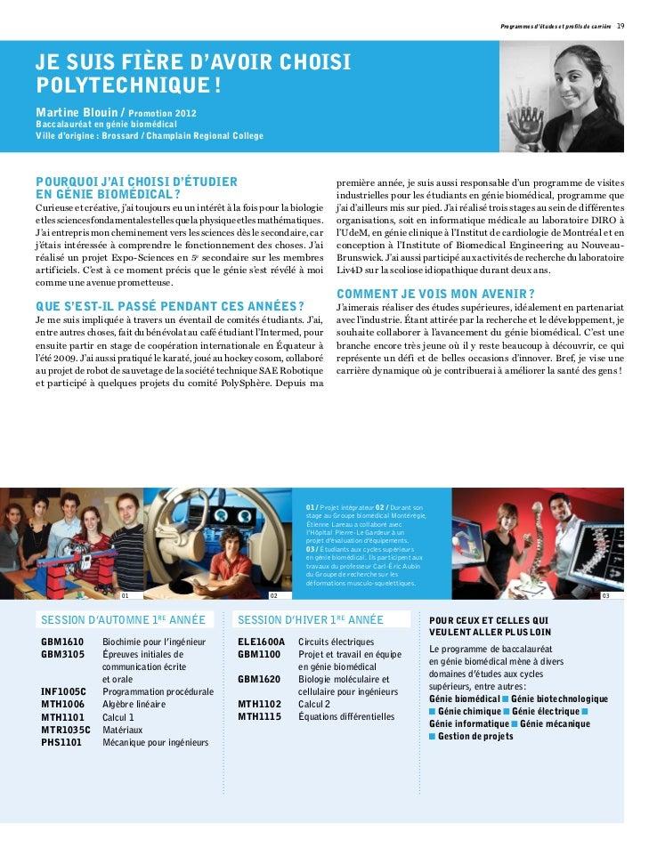 Brochure baccalauréat Polytechnique Montréal 2012