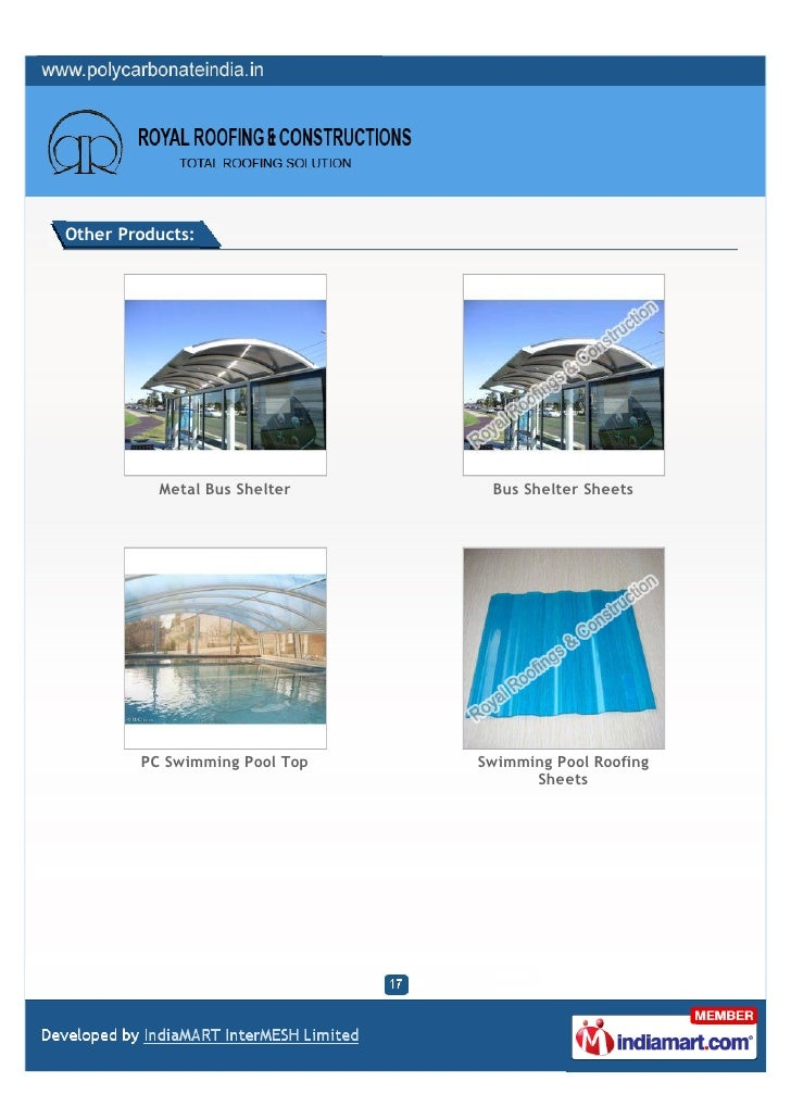 Royal roofings construction chennai polycarbonate glazings Swimming pool construction in chennai