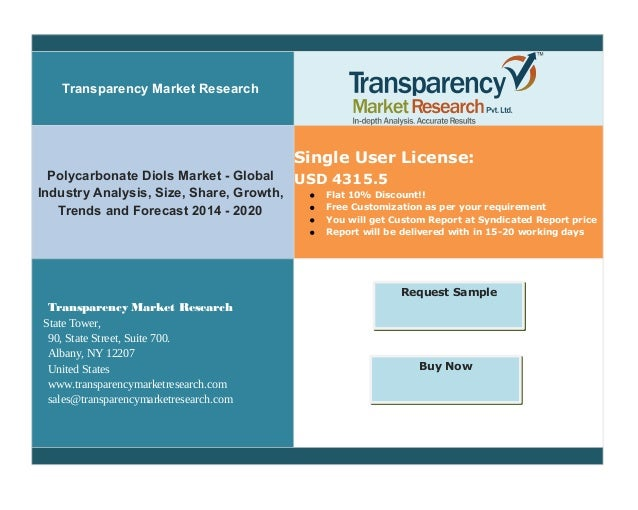 Transparency Market Research Polycarbonate Diols Market - Global Industry Analysis, Size, Share, Growth, Trends and Foreca...